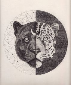 Beautiful mystic big cat illustration, this on a tee please!