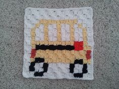 Ravelry: School Bus C2C Block pattern by Sanofer Abdullah