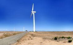 """Eskom Generation's pilot wind-farm facility at Klipheuwel in the Western Cape, South Africa. """"The company's pilot study was undertaken in when it erected three wind turbines at an experimental wind energy farm at Klipheuwel on the West Coast Renewable Energy, Solar Energy, What Is Wind Energy, Building A Wind Turbine, Farm Projects, Wind Power, Energy Technology, Alternative Energy, Climate Change"""