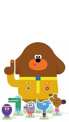 CBeebies Hey Duggee And Friends Lifesize Cardboard Cutout comes with the Squirrel club all items have a fold out strut to the rear which means its entirely