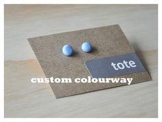 pebble earrings in custom colour (polymer clay)