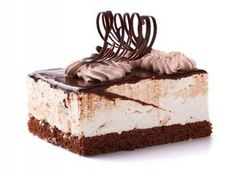 Chocolate cake with cream on white Chocolate Photos, Chocolate Cake, Mousse, Creme Caramel, French Food, Vanilla Cake, Tiramisu, Cheesecake, Fondant