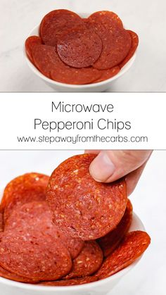 These zero carb microwave pepperoni chips are super easy to make and are full of flavor! Great for keto snacking! These zero carb microwave pepperoni chips are super easy to make and are full of flavor! Great for keto snacking! Keto Foods, Foods To Eat, Keto Snacks, Snack Recipes, No Carb Snacks, Paleo Diet, Low Carb Keto, Low Carb Recipes, Pepperoni Chips