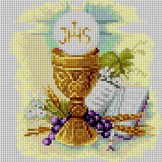 Znalezione obrazy dla zapytania obrazki haftowane na I Komunię Cross Stitch Cards, Magnolia Flower, First Communion, Cross Stitch Patterns, Embroidery, Crochet, Diy, Google, Cross Stitch Angels