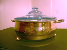 Fire King Philbe-Sapphire Blue Casserole with Silver Plated Holder 2 quart Round Oven Casserole Anchor Hocking by gracedmoments on Etsy