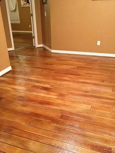 Concrete floors that look like wood. Perfect for laundry room floor.