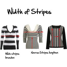 Width of stripes and what makes one look wider or narrower