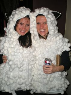 Our sheep costumes turned out really well…in fact, they exceeded our expectations. Here's how we did it: Supply List (to make one sheep cos...