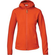 Fjallraven Women's Abisko Trail Fleece Hoodie (13.040 RUB) ❤ liked on Polyvore featuring activewear, activewear tops, flame orange and fjällräven