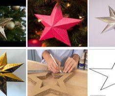 Como hacer estrellas para navidad en cartón 3D 3 D, Playing Cards, Gift Wrapping, Mario, Gifts, Videos, Tela, Paper Party Decorations, Holiday Ornaments