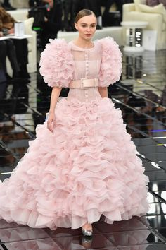 Lily-Rose Depp at Chanel - Front Row Fashion at Every Spring 2017 Haute Couture Show - Photos