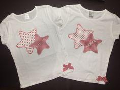 Apliques de Estrellas en camisetas.
