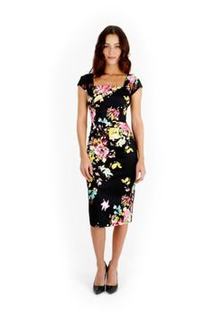Seville Black Cara Pencil Dress