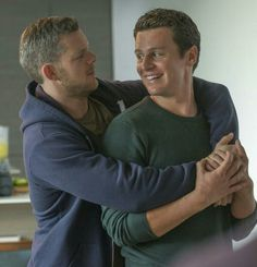 Still from Looking S2E10, Kevin and Patrick