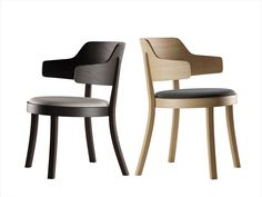 The seley chair 1-463 complements the product family, which was designed by Frédéric Dedelley, perfectly. The chair has a seat height of 46cm and thus fits perfectly into the chair family as a big brother. Its seat has a comfort upholstery and, if desired, a back upholstery. It is also available with a conventional wooden seat. Armchair, Upholstery, Brother, Dining Chairs, Big, Furniture, Design, Home Decor, Sofa Chair