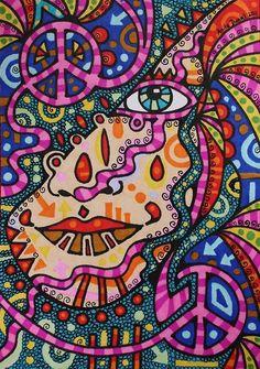 ✪☯☮ॐ American Hippie Psychedelic Art ~ Peace Hippie Peace, Hippie Love, Hippie Art, Peace Love Happiness, Peace And Love, Psychedelic Art, Hippie Culture, Psy Art, Trippy