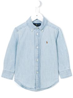 Ralph Lauren Kids Camisa jeans com bordado