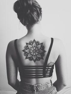 linework tattoo mandala