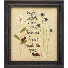 this would make a great pillow too, any of these stitcheries would...