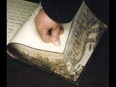 古いヨーロッパの本には、通常では気付かない場所に「絵画」が隠されていた : らばQ