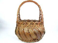 Antique Basket Wicker Basket shabby chic by KarensChicNShabby