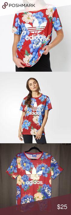 Adidas Floral 2017 Edition Loose Fit T-Shirt adidas Tops Tees - Short Sleeve