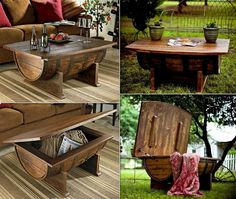 Unique, beautiful, ugly, boring? What word would you use to describe these wine barrel coffee tables?  Want more? Check out our collection of furniture ideas at http://theownerbuildernetwork.com.au/furniture-ideas/