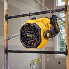 mechanicalhubThe MAX Jobsite Fan is UL Listed and tested to With up to seven hours of runtime when used with a battery (sold separately) at maximum speed, the fan can also run from an AC power source . 500 CFM on high Pivoting head Dewalt Power Tools, Pipe Fitter, Cool Garages, Must Have Tools, Professional Tools, Garage Workshop, Garage Organization, Ac Power, Cool Tools