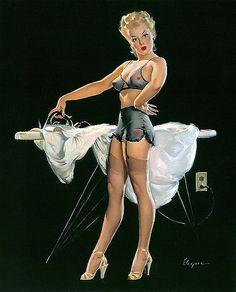 Pin UP ironing, by Elvgren