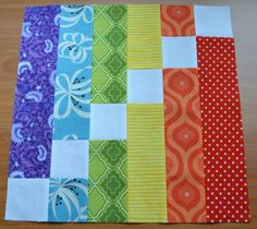This is a quilt block, but wouldn't it be a cute (and super speedy) baby quilt?  (The other blocks in this post are cute, too.)
