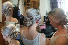Side romantic wedding bun with braids!!