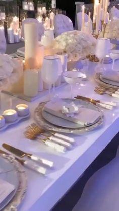 White Wedding Decorations, Luxury Wedding Decor, Wedding Centerpieces, Wedding Table, Diy Wedding, Dream Wedding, Wedding Reception, Wedding Ideas, Wedding Goals