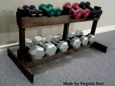 Home Gym - Dumbbell Rack #Pallet - http://amzn.to/2fSI5XT