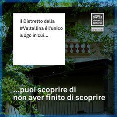 Nei #distretticulturali ogni giorno può essere una nuova scoperta…  #discover Distretto Culturale della Valtellina #Valtellina