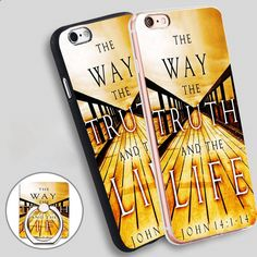 way the truth and the life Phone Ring Holder Soft TPU Silicone Case Cover for iPhone 4 4S 5C 5 SE 5S 6 6S 7 Plus