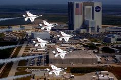 USAF Thunderbirds over Cape Canaveral
