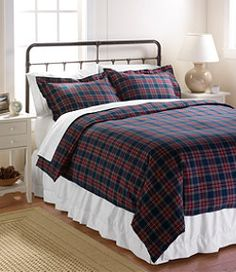 #LLBean: Heritage Chamois Flannel Comforter Cover, Plaid