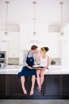 At Home Engagement Session – Style Me Pretty