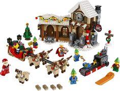 Geniet van de magie van Kerstmis met Santa's Workshop, een feestelijke aanvulling op de LEGO® Winter Village Serie! Verzamel de hele familie rond de kerstboom om dit betoverende winter wonderland te bouwen.