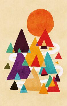 Let's visit the mountains Art Print by Budi Satria Kwan