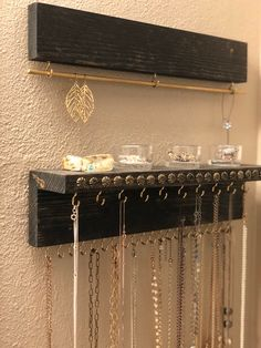 Your place to buy and sell all things handmade - Earring Organizer Wood Jewelry Display Jewelry Rack Wood Jewelry Display, Jewelry Rack, Diy Jewelry Holder, Jewelry Stand, Jewelry Armoire, Jewellery Storage, Jewellery Display, Etsy Jewelry, Earring Display