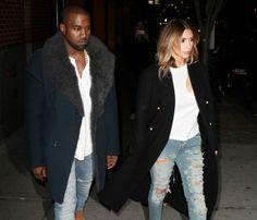 Kim Kardashian y Kanye West, estilismo en pareja