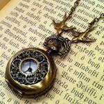 Brass pocket watch necklace- $30// Ragtrader Vintage