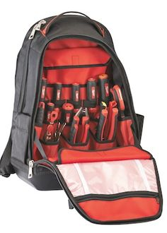 Tool Bags & Pouches: Milwaukee 48-22-8200 Jobsite Backpack - Contractor Supply Magazine