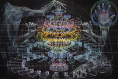 Beautiful in their own right, these works of art from artist Atsushi Koyama look very much like illustrations for how to manipulate a holographic design table. A lot of precise hand and eye coordination is involved.