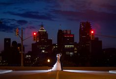 Stunning Nighttime Photo of the Bride and Groom   photo by Real Image Photography   as seen on www.brendasweddingblog.com