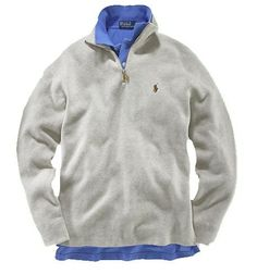 Polo Ralph Lauren Mens 1/4 Zip French Rib Sweater Tan Size 3XLT