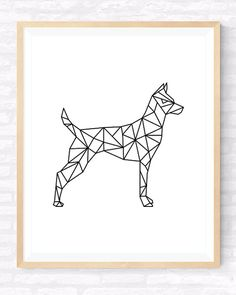 Geometrische Hund, druckbare Wandkunst. INSTANT DOWNLOAD - werden digitale Akten des Kunstwerks sofort nach dem Kauf zum Download, kein physisches Produkt werden ausgeliefert. >>>>>> Herunterladen, Drucken und Rahmen!