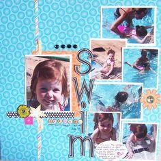 Swim Lessons #scrapbook