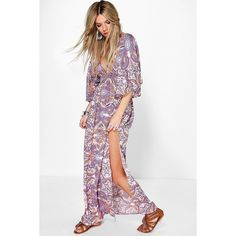 Boohoo Leila Multi Paisley Maxi Dress (1,635 INR) ❤ liked on Polyvore featuring dresses, paisley day dress, white day dress, paisley print maxi dress, paisley dress and paisley maxi dress